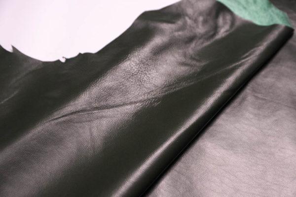 Кожа одёжная МРС, тёмно-зелёная, 9 фут2 (84 дм2)-200065