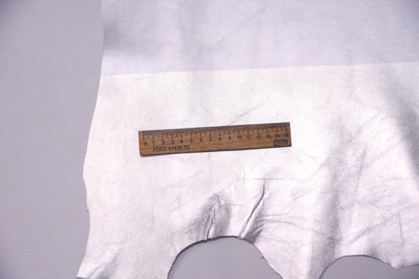 Кожа МРС, серебро, 45 дм2.-108522