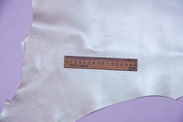 Кожа МРС, бежевый металлик (хамелеон), 40 дм2,  Russo di Casandrino S.p.A.-108537