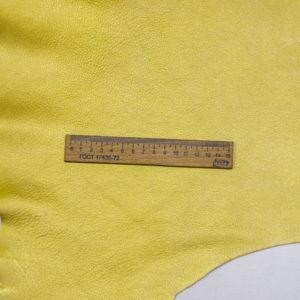 Кожа козы, жёлтый металлик, 38 дм2.-108548