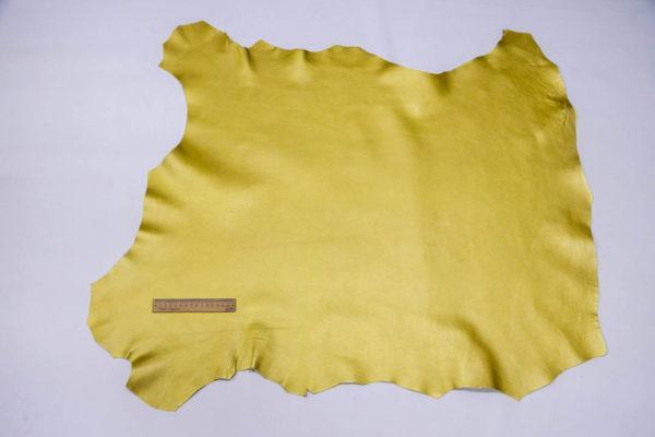 Кожа козы, жёлтый металлик, 68 дм2.-108549
