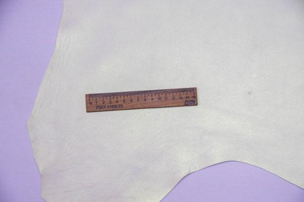 Кожа МРС, жемчужная с перламутром, 41 дм2.-108557