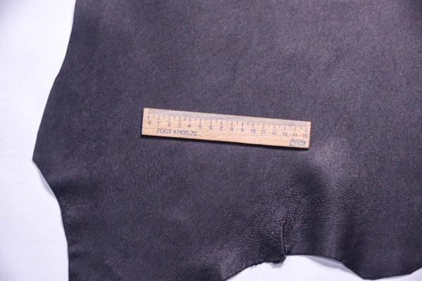 Кожа МРС (метис), чёрная, 43 дм2, Russo di Casandrino S.p.A.-108594