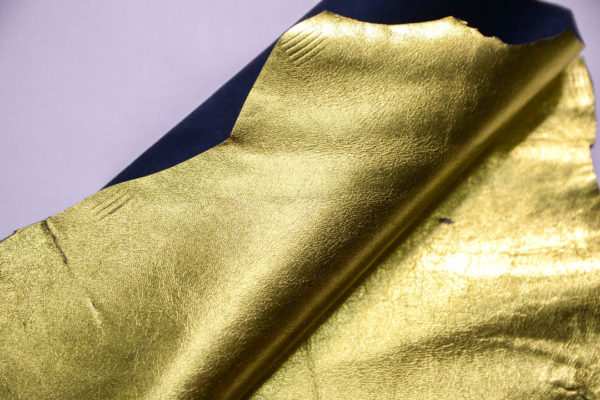 Кожа МРС, золото, 17 дм2.-108595