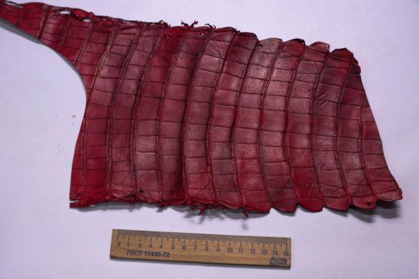 Кожа кроко, марсала, 27х19 см.- kr2-13