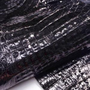 Кожа каймана, чёрная, 103х25 см.- kr2-3