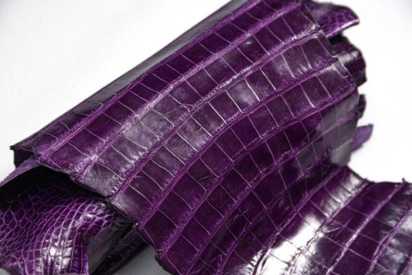 Кожа кроко, фиолетовая, 61х21 см.- kr2-5