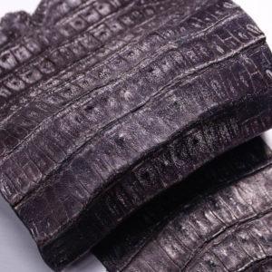 Кожа каймана, тёмно-коричневая, 74х28 см.- kr2-7