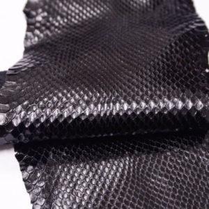 Кожа питона, чёрная, 235х19 см.-zm3-12