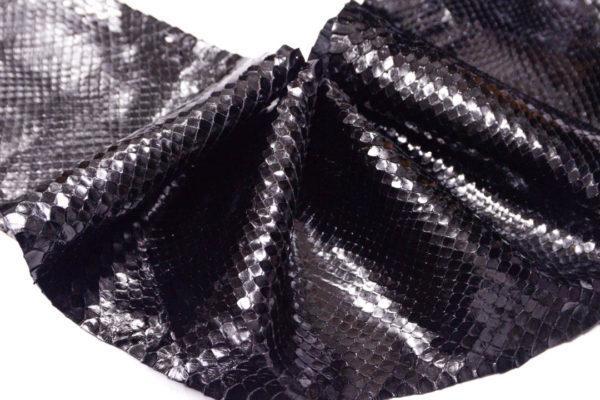 Кожа питона, чёрная, 215х20 см.-zm3-14