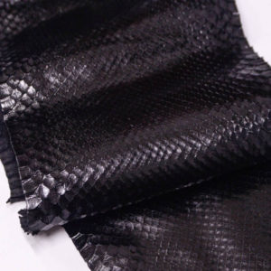 Кожа питона, чёрная, 240х20 см.-zm3-3