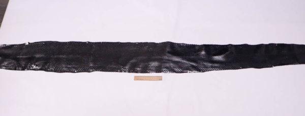 Кожа питона, чёрная, 230х20 см.-zm3-7