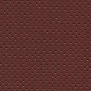 PU гладкая кожа с перфорацией, Швайцер (Schweitzer), рыже-коричневая - PU006NP