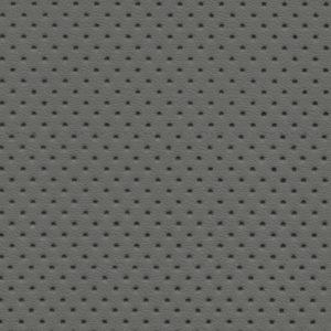 PU гладкая кожа с перфорацией, Швайцер (Schweitzer), светло-серая - PU005NP