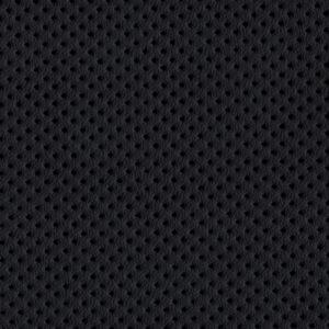 PU гладкая кожа с декоративной перфорацией Швайцер (Schweitzer), чёрная - PU001ND