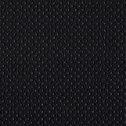 PU фактурная кожа с перфорацией Швайцер (Schweitzer), чёрная - PU001MP