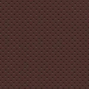 PU гладкая кожа с перфорацией, Швайцер (Schweitzer), коричневая - PU011NP