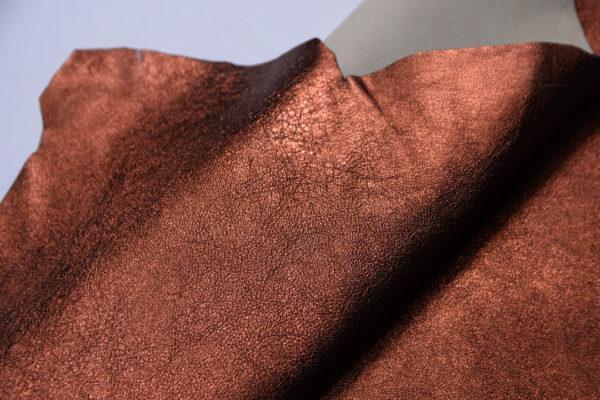 Кожа МРС (метис), медно-коричневый металлик, 36 дм2.-108699