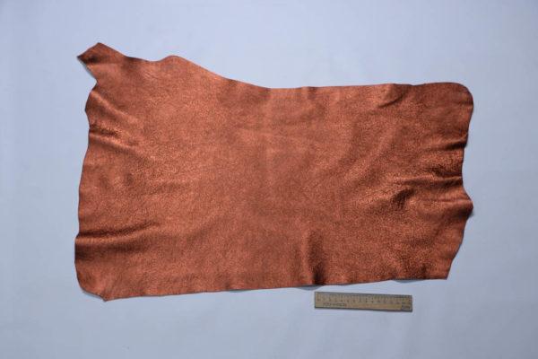 Кожа МРС (метис), медно-коричневый металлик, 25 дм2.-108701