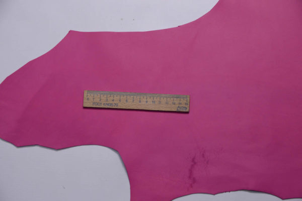 Кожа МРС, розовая фуксия, 38 дм2, Russo di Casandrino S.p.A.-108737