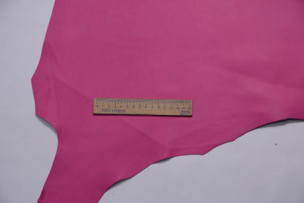 Кожа МРС, розовая фуксия, 48 дм2, Russo di Casandrino S.p.A.-108738
