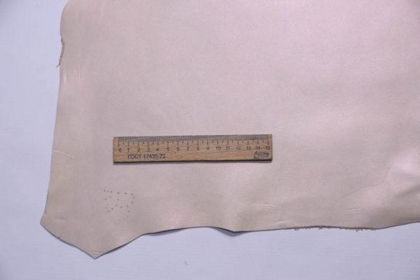Кожа МРС, бежевая с перламутром, 50 дм2.-108743