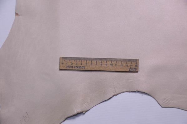 Кожа МРС, бежевая с перламутром, 58 дм2.-108745