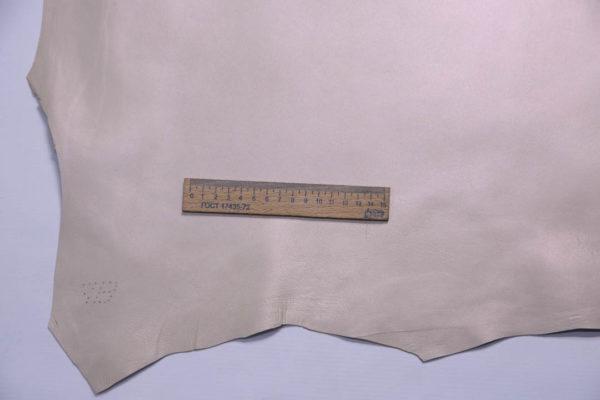 Кожа МРС, бежевая с перламутром, 56 дм2.-108746