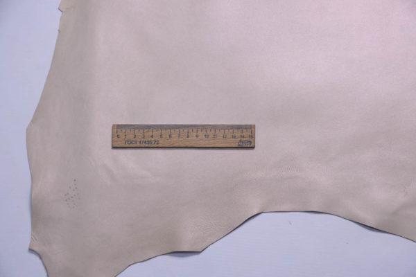 Кожа МРС, бежевая с перламутром, 54 дм2.-108747