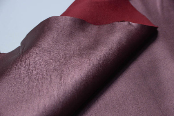 Кожа МРС, бордовый металлик, 47 дм2.-108759