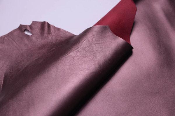 Кожа МРС, бордовый металлик, 44 дм2.-108760