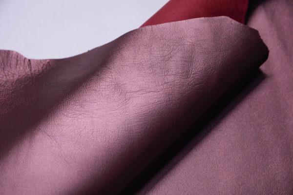 Кожа МРС, бордовый металлик, 42 дм2.-108762