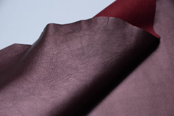 Кожа МРС, бордовый металлик, 41 дм2.-108763
