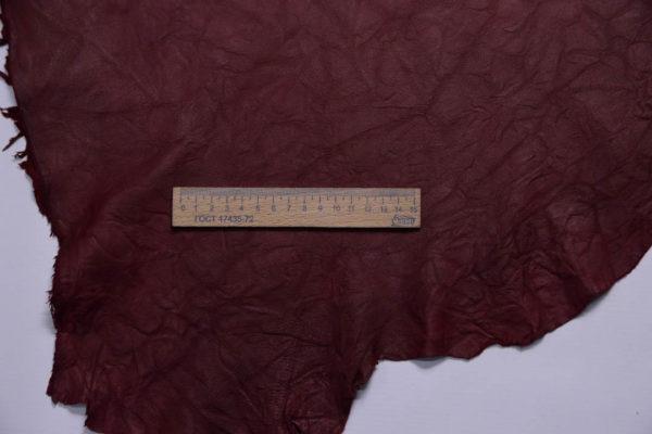 Кожа МРС (жатка), бордовая, 53 дм2.-108765