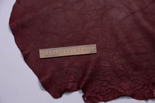 Кожа МРС (жатка), бордовая, 60 дм2.-108766