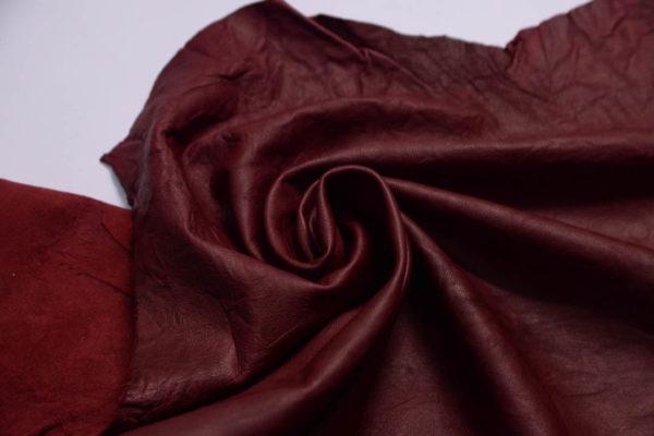 Кожа МРС (жатка), бордовая, 52 дм2.-108769