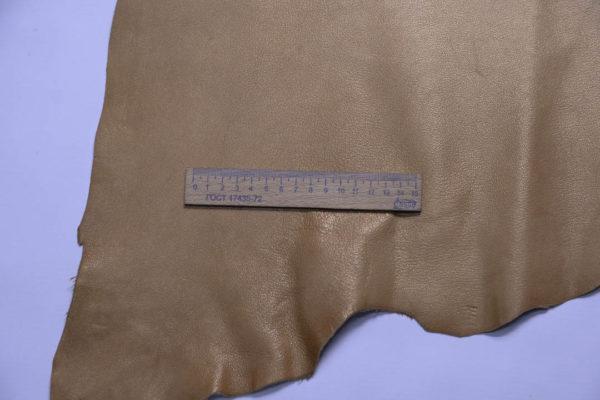 Кожа козы, жемчужная охра, 43 дм2, Russo di Casandrino S.p.A.-108776