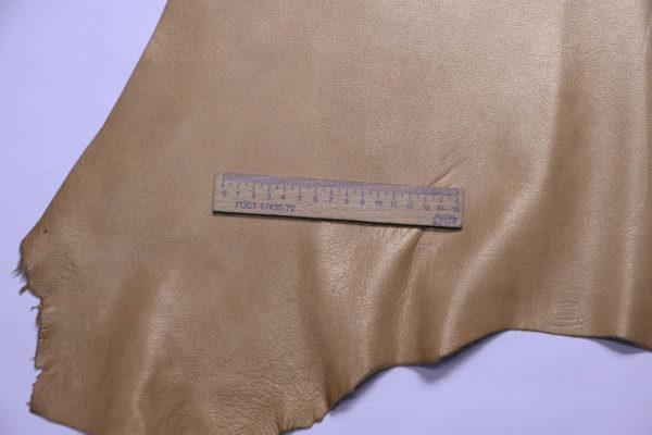 Кожа козы, жемчужная охра, 46 дм2, Russo di Casandrino S.p.A.-108777