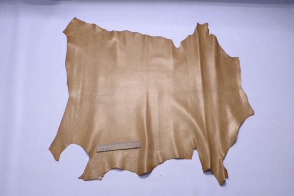 Кожа козы, жемчужная охра, 41 дм2, Russo di Casandrino S.p.A.-108781