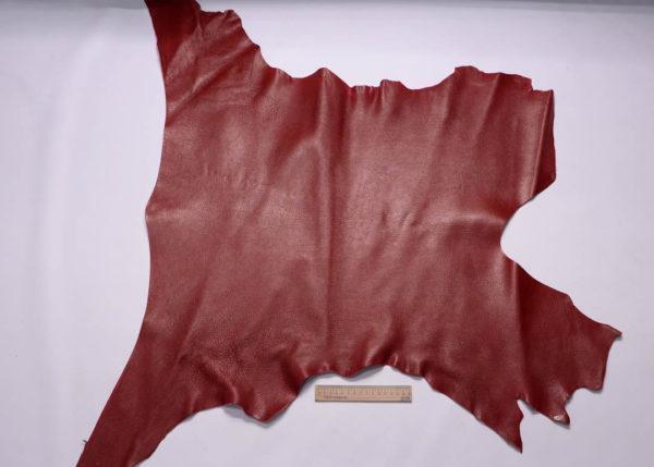 Кожа козы, тёмно-красная, 57 дм2.-108822