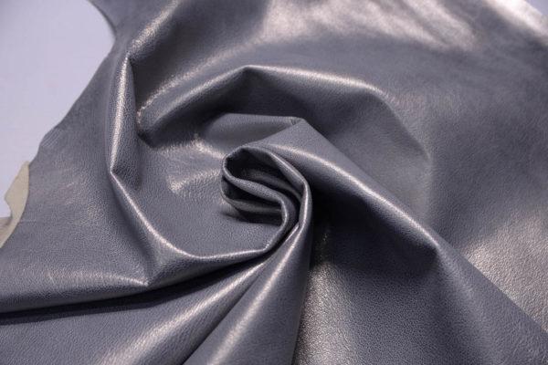 Кожа козы, серый металлик, 41 дм2, Russo di Casandrino S.p.A.-108833