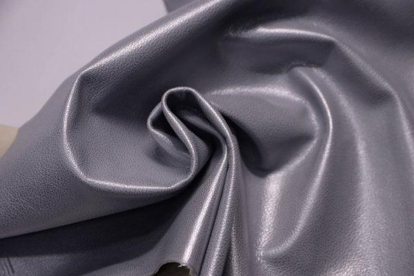 Кожа козы, серый металлик, 41 дм2, Russo di Casandrino S.p.A.-108834