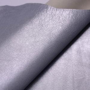 Кожа козы, серый металлик, 45 дм2, Russo di Casandrino S.p.A.-108835