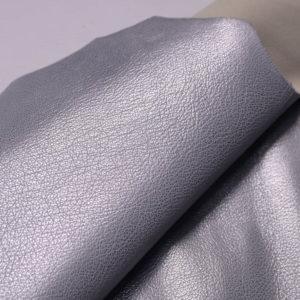 Кожа козы, серый металлик, 47 дм2, Russo di Casandrino S.p.A.-108836
