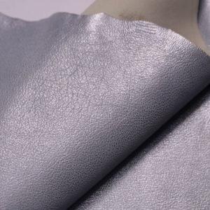 Кожа козы, серый металлик, 41 дм2, Russo di Casandrino S.p.A.-108837