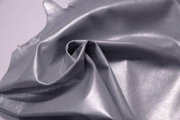 Кожа козы, серый металлик,38 дм2, Russo di Casandrino S.p.A.-108839