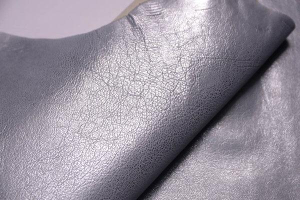 Кожа козы, серый металлик, 41 дм2, Russo di Casandrino S.p.A.-108840