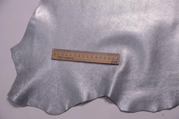 Кожа козы, серый металлик, 45 дм2, Russo di Casandrino S.p.A.-108841