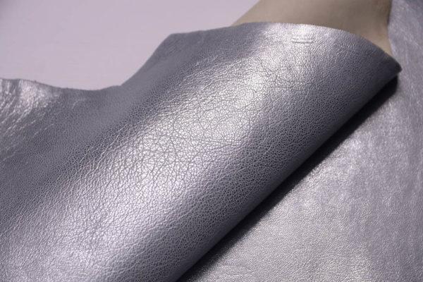 Кожа козы, серый металлик, 42 дм2, Russo di Casandrino S.p.A.-108842