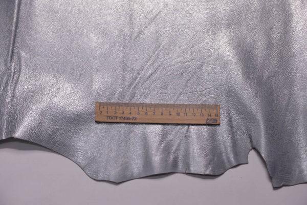 Кожа козы, серый металлик, 44 дм2, Russo di Casandrino S.p.A.-108843